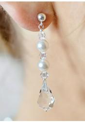 Glamour Perles bridal earrings