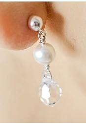 Gouttes perles bridal earrings