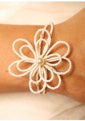 Camélia bridal bracelet
