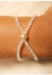 Cascade cream bridal bracelet