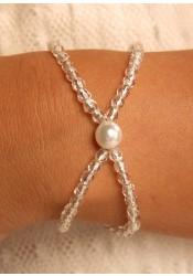 Cascade silver bridal bracelet