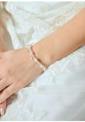 Gouttes Perles bridal bracelet