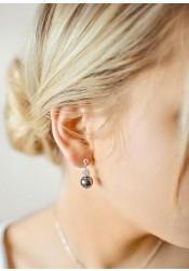 Charlotte black bridal earrings