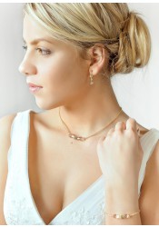 Jessica honey bridal necklace