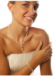 Glamour perles bridal necklace
