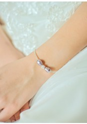 Anna lilac bridal bracelet