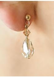 Alice honey bridal earrings