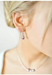 Anna lilac bridal earrings