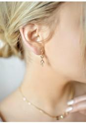 Jessica honey bridal earrings